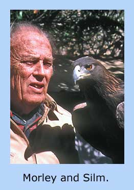 Morlan Nelson with Golden Eagle