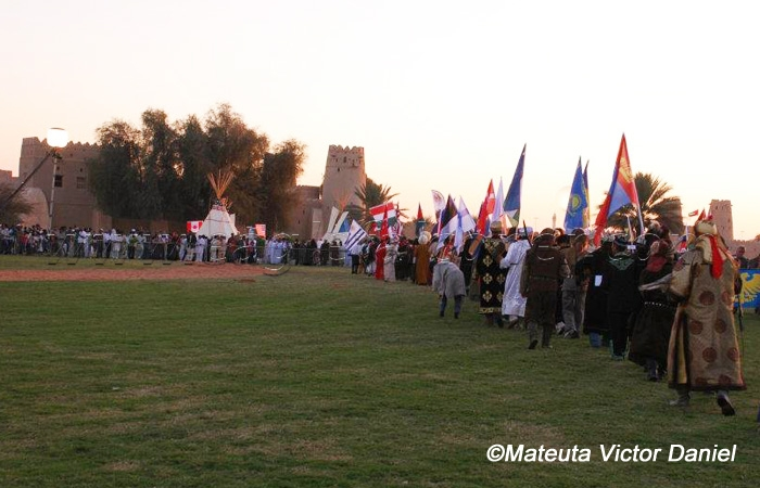 Parade of Nations at the Third Festival of falconry