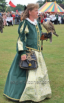 Monica Hiebler at the  Festival of Falconry