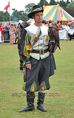 Austrian falconer at the  Festival of Falconry