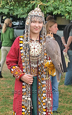Turkmenian falconer at the  Festival of Falconry