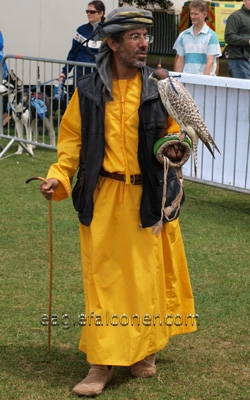 Beduin falconer at the  Festival of Falconry