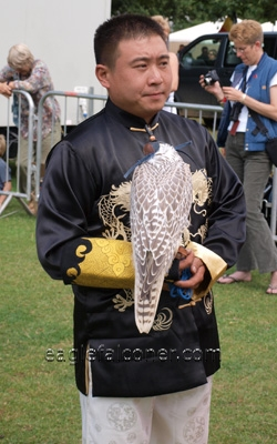 Chinese falconer at the  Festival of Falconry