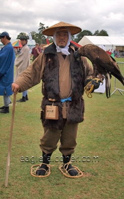 Japanese falconers at the  Festival of Falconry