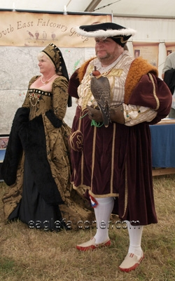 King Henery at the  Festival of Falconry