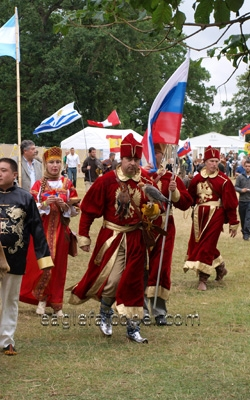 Rusian falconers,  Festival of Falconry