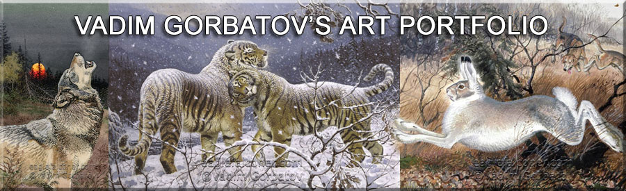 Vadim Gorbatov's wildlife art Gallery